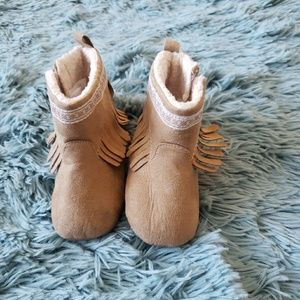 Baby Girl Velcro Moccasin Shoes